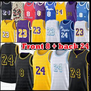 LOS 23 Angeles 24 8 Basketbol Forması Anthony 3 Davis Kyle 0 KUZMA 32 34 Alex 4 Siyah Caruso Mamba Formaları 2021 Yeni Siyah Beyaz Erkek Altın