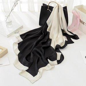2020 NEW 90x90cm Art und Weise Frauen Schal Gefühl Silk Schal-Schal Quadrat Herz Stern Printed Kopf Schals Wraps