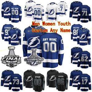 2020 Stanley Cup Champions Tampa Bay Lightning Hockey Джерси 55 Andreas Боргман Крис Гибсон Бен Томас Росс Колтон Спенсер Мартин заказ