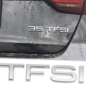 For Audi TFSI A3 A6 A6L A8L Nameplate Trunk Sticker Metal Logo For Sline A5 A8 C7 B7 B8 SQ5 S5 RS4 Q3 RS7 RS8 S8 Car Styling