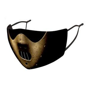 Joker Clown Clown Ice Cream Fashion Face Mask Dust Wind Nebbia e foschia Can Sostituire PM2.5 Filtro 3D Maschera per lavare il lavaggio stampato 3D EWB2312