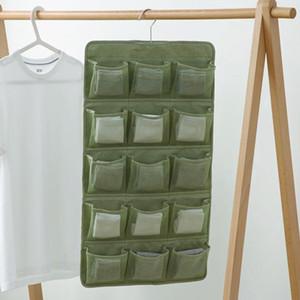 Accessories Underwear Rack Multi Pocket Hanging Bag Socks Bra Over Door Storage Organizer Wardrobe Closet Clear Space Saving