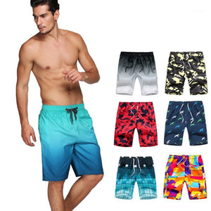 Multicolour Beach Shorts Swim Summer Board Shorts Big Size L-4XL Men Surfing Elastic Quick Dry Men Summer Beachwear1