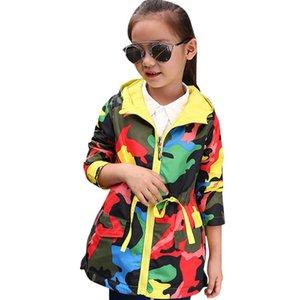 Abeesay Automne Sports Veste pour filles Camouflage Girls Veste Printemps Enfants Manteaux Vêtements pour filles 4 6 8 10 12 ans 201106