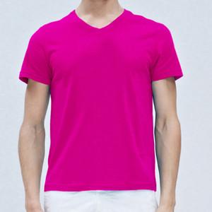 Big Letter Motif 100% coton pour hommes T-shirts chaud vente Coton tshirt pour les hommes normaux TShirt cou Casual V T-shirt à manches courtes