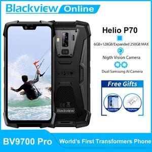 Blackview BV9700 Pro IP68 Waterproof Rugged Mobile Phone Helio P70 Octa Núcleo 6GB + 128GB Outdoor Celular 16MP + 8MP 4G Smartphone