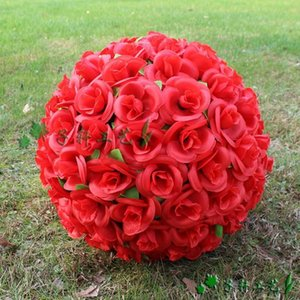 """20pcs lot12"""" 30cm Artificial Simulation Silk Flowers Kissing Ball For Wedding Valentine's Day Party Decoration 8 Colors in stock"""