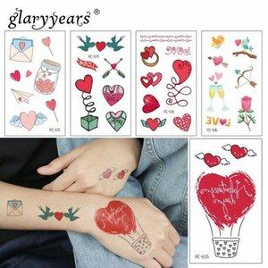 glaryyears 1 Scheda di San Valentino Temporary Tattoo Sticker Hot falso amore trucco Flash impermeabile Moda Piccolo Body Art femminile Nyh1 #