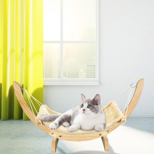 Warm Winter Cat Bed Soft Pet Cats Hammock Puppy Kitten Hanging Beds Mat With Durable Wood Frame For Sm bbywRu