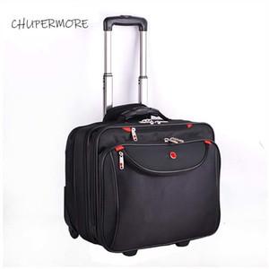 Chupermore multifunzione Business rotolando bagagliaio Spinner 18 pollici Brand Carry Ons Slippia Wheels Password Laptop Borse da viaggio LJ201114