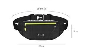 bolso de la cintura Deportes corriendo bolsa de teléfono móvil para los hombres y mujeres equipo al aire libre mini bolso de la correa resistente al agua invisible ultra-delgado multifuncional
