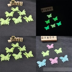 8*5cm 3D Butterfly Shape Luminous Stickers Rich Color Sticker Lovely Good Looking Wall Home Bedroom Decor Children Like 1 2yy E2