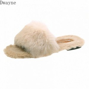 2020 Autumn And Winter With Furry Slippers Female New Korean Version Of The Wild Student Hair Wear Fashion Flip Flops Mid Calf Boots L QFqC#