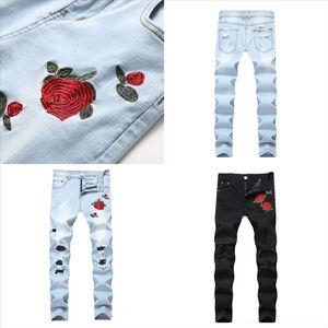 Kwupu Dsenqi New Men Uomo strappato per jeans Pantaloni Biker Dener Jeans Mens Outwear Jean