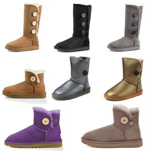 2021 Новый дизайнер Classic WGG ROOT BAILELY BOW Высокая кнопка триплет Австралия Женская женская ботинка зимние снежные ботинки меховой пушистый австралийский W2QC #