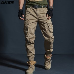 AKSR Men's Hip Hop Streetwear Cotton Cargo Pants Large Size Flexible Tactical Harem Pants Military Trousers Joggers Sweatpants 201006