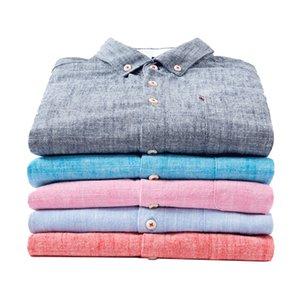 Aoliwen бренд хлопок и лен сплошного цвета мужчины рубашка бизнес случайной рубашка с длинными рукавами офиса повседневной одежды мужчины одежда 201021