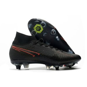Mens SG Pro Futebol chuteiras Metal Studs Mbappé Superfly Elite 360 ​​Neymar High Top Futebol Outdoor Shoes CR7 Mercurial futebol Botas
