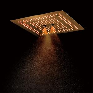 임베디드 천장 강우 샤워 헤드 닦았 골드 샤워기 16 인치 고급스러운 마사지 스파 샤워 욕실에 대한