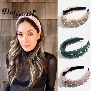 FlatFoosie Fashion Coreano Design Imitazione Perla Hair Band Girls Accessori per capelli da sposa per le donne Crystal Hairbands Fascia