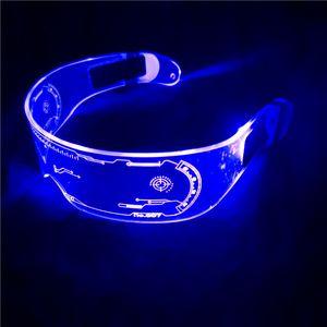 LED EL Wire Neon Luminous Light Up Glasses Glow In The Dark Party Decor DJ SunGlasses Halloween Decoration