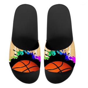 Hycool Sandalen für Mann Frauen Fußball Basketball Print Teenager Hausschuhe Mode Bequeme Slipper Männchen Sommerschuhe Flat1