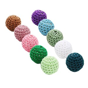 10 قطعة Multicolors الكروشيه الاكريليك الخرز خفض 15mm مجوهرات اليدوية ملحقات DIY الحرف لعب الاطفال - 3MM هول