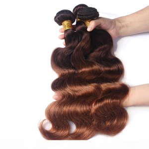 ZhiFan ombre expressions hair brazilian ombre human braiding hair real human hair wefts weave body wave 4 30# color