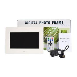 7 بوصة الإضاءة الخلفية LED عالية الدقة والوضوح وظيفة إطار الصورة الرقمية الالكترونية ألبوم صور سطح المكتب صور البوم اغاني الفيديو