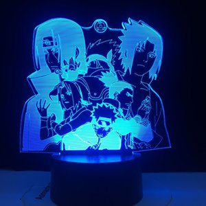Naruto Hayato Sasuke Sakura Figure Nightlight for Kids Bedroom Decoration Cool Led Table Lamp Anime Gift for Him LED Night Light