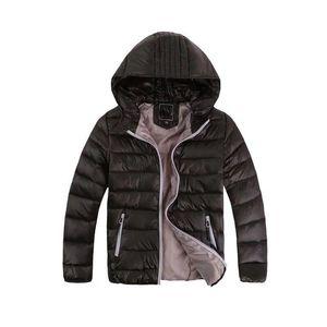 Детская верхняя одежда Мальчик и девочка Зима с капюшоном Дети Хлопчатобумажная куртка Детские куртки 3-12 лет