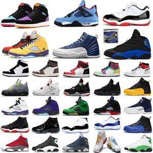 nike air jordan retro 1 jumpman 1 aj1 masculino feminino tênis basquete vela 4 bred 11s reflexivo Hyper Royal 13 Indigo 12 Alternate Grape 5 masculino tênis esportivo