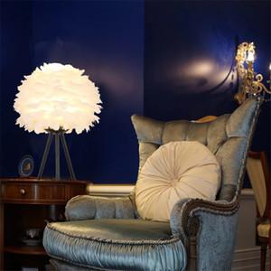 Designer feather table lamp Bedroom Living room beside desk lamp Nordic decor Children Romantic  table lamp
