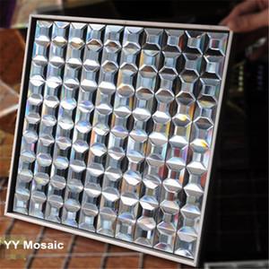 5 chanfrado bordas Showroom Diamond Grey Espelho Tiles Mosaic Banho Exibindo parede 3D Gabinete Municipal Cintura Etiqueta