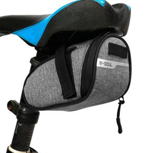 Bolsa de montar de bicicleta a prueba de agua portátil bolsa de asiento de ciclismo portátil Bolsas de la cola de la bicicleta Pinderín trasero Equipo de ciclismo