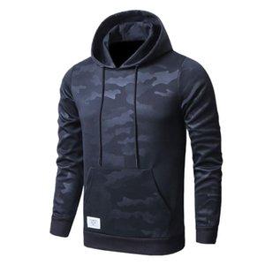 Mens Hoodies Vogue Camuflagem Impresso Soldado Masculino Casual Moletom Com Capuz Meashirt Cool Streetwear Hoodies tops
