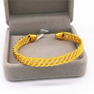Rame Vietnam Sabbia c Type Open Ended i monili del braccialetto coreano Nuovo Euro modo placcato oro delle donne