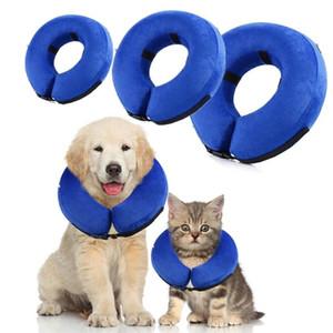 Colletto gonfiabile per animali domestici Anti-morso collo Elizabethan Collar Carino Cat Dog Puppy Collo Cerchio protettivo per piccoli grandi cani