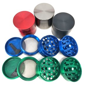 40mm 4 layers grinders herb metal Zinc alloy Grinder with cnc teeth filter net For dry herb vaporizer pen glass silicone smoking pipes