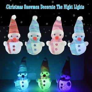 Рождество Светящиеся Пожилым Снеговик Подвеска Рождественская елка украшения кулон Труба Elk Luminous украшения Подарок Подарок GWD2054