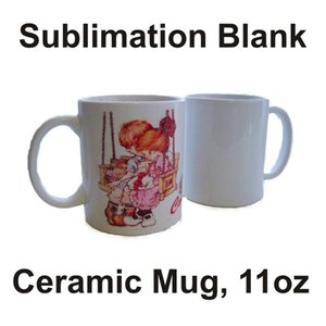11oz Sublimation Blanks Mug White Ceramics Sublimation Coffee Mugs Heat Transfer Printing Classic Tea Cup CYZ2836 Sea Shipping