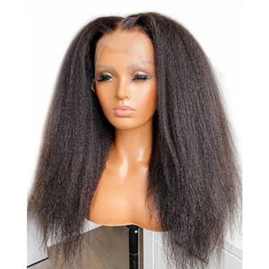 Verworrene gerade Menschenhaar-Perücken mit dem Babyhaar brasilianische Remy 5x5 Silk Basis Schließung Perücken 13x6 Lace Front Perücken für Frauen