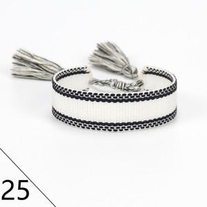 Top quality Brand Fashion Jewelry For Men Women Handmade Cotton Signture Embroidery Designer Bracelet Woven Bangle Fabrics Luxury