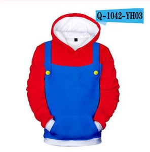 3D print child Hoodie game Super Mario print Cartoon Kids clothing Hooded Sweatshirt fashion Funny Boys and girls Sports sweater