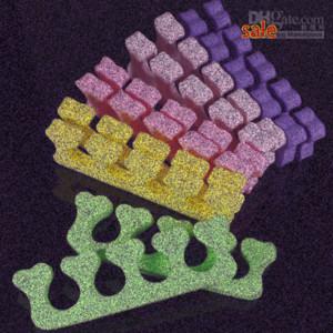 Wholesale Random Color Heart Soft Form Finger Toe Separator Acrylic Nail Art Salon Manicure Pedic iPLv#