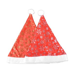 Christmas Golden Velvet Hat Is Used for Christmas Party, Party Dressing, Decoration Gifts 12 Pcs Set