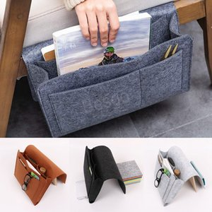 Felt Bedside Storage Bags Sofa Hanging Organizer Holder Dormitory Books Smartphone Remote Controller Storage Bags Two Size BH4301 TQQ