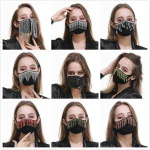 maschere di cotone Bling d'avanguardia strass maschera viso Jewlery per i gioielli di corpo delle donne faccia Night Club Gioielleria decorativo mascherine del partito FWC1711