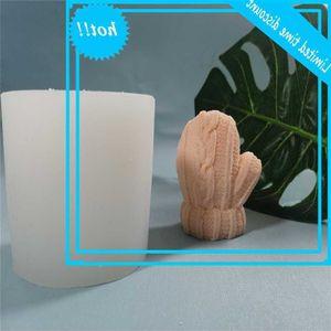 DIY knitting gloves silicone homemade handmade wool ball candle gypsum Chocolate mold
