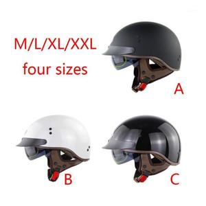 2021 New DOT Certification Retro Motorcycle Helmet Half Face Biker Motorbike Moto Helmet1